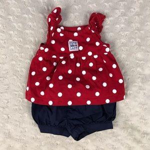 Carter's Ladybug Polka Dot Baby Girl Outfit